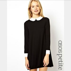Swing Dress with Collar and Cuffs